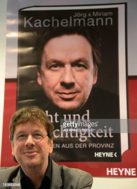 Germany's highprofile TV weatherman Swiss Joerg Kachelmann presents his book 'Recht und Gerechtigkeit Ein Maerchen aus der Provinz' about his months...