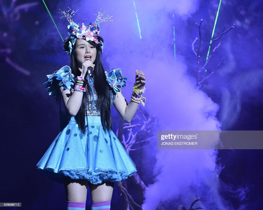 Germany's JamieLee performs the song 'Ghost' at the Ericsson Globe in Stockholm Sweden on May 8 2016 The semifinal of the Eurovision Song Contest...