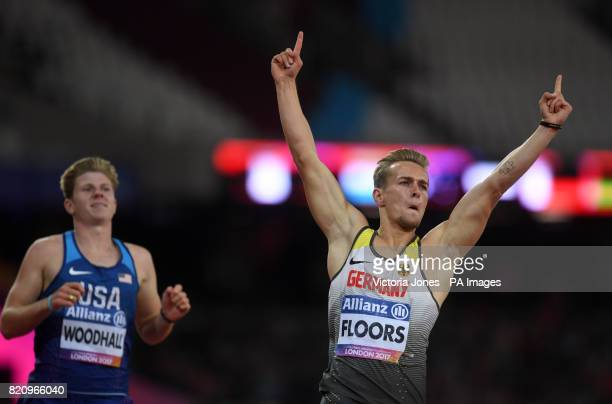 Germany's Johannes Floors wins the Men's 200m T43 during day nine of the 2017 World Para Athletics Championships at London Stadium