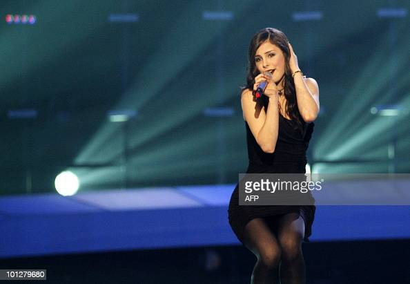 Germany's Lena performs the song 'Satellite' during the Eurovision Song Contest 2010 final at the Telenor Arena in Baerum near Oslo Norway on May 29...