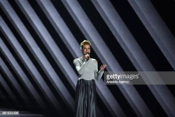 Germany's Levina performs the song 'Perfect Life' during the second semifinal dress rehearsal of Eurovision Song Contest 2017 at the International...