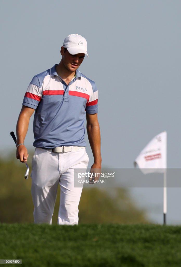 Germany's Martin Kaymer attends the third round of the Qatar Masters golf tournament in Doha on January 25, 2013. AFP PHOTO / AL-WATAN DOHA / KARIM JAAFAR == QATAR OUT ==