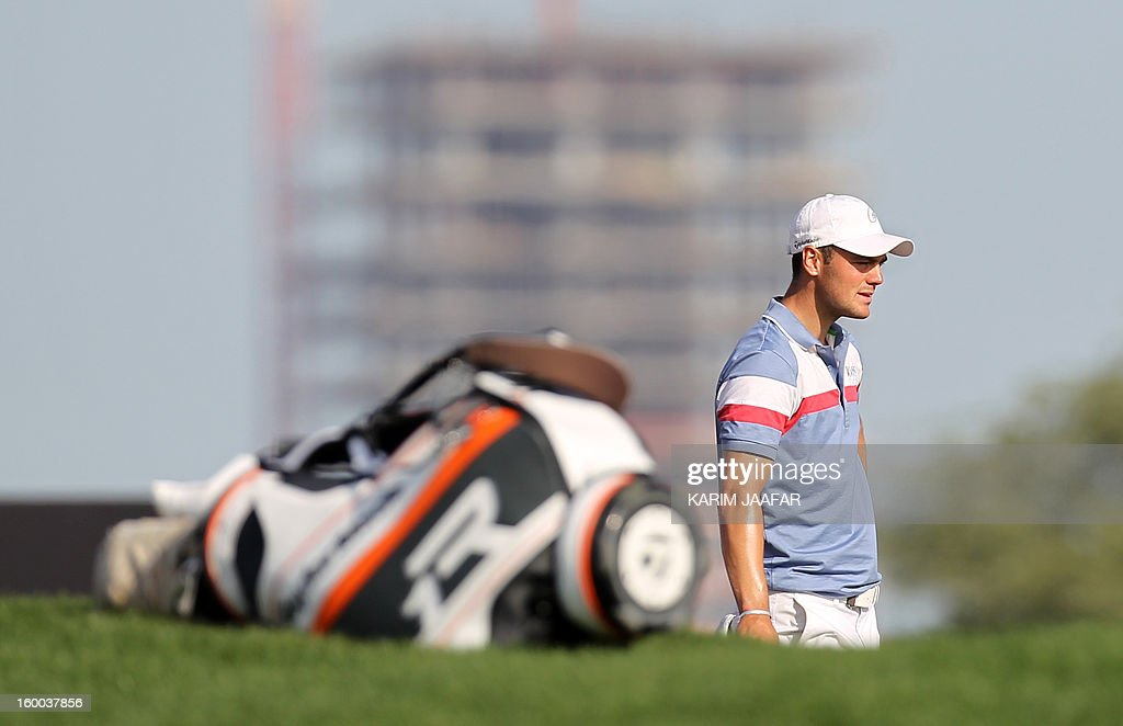 Germany's Martin Kaymer attends the third round of the Qatar Masters golf tournament in Doha on January 25, 2013.