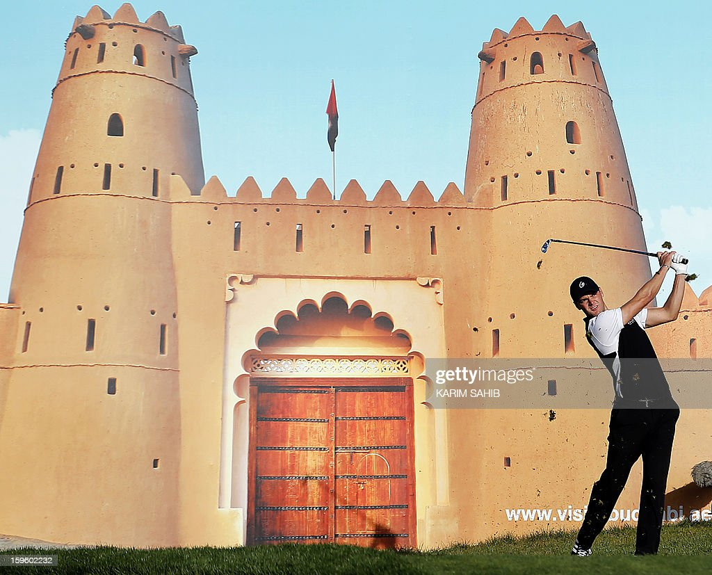 Germany's Martin Kaymer plays a shot during the first round of the Abu Dhabi Golf Championship at the Abu Dhabi Golf Club in the Emirati capital on January 17, 2013.
