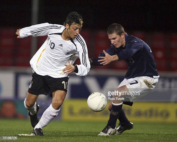 Germany's Mesut Ozil in action during the UEFA Men's U19 European Championship Qualifying game between Scotland and Germany at Falkirk Community...