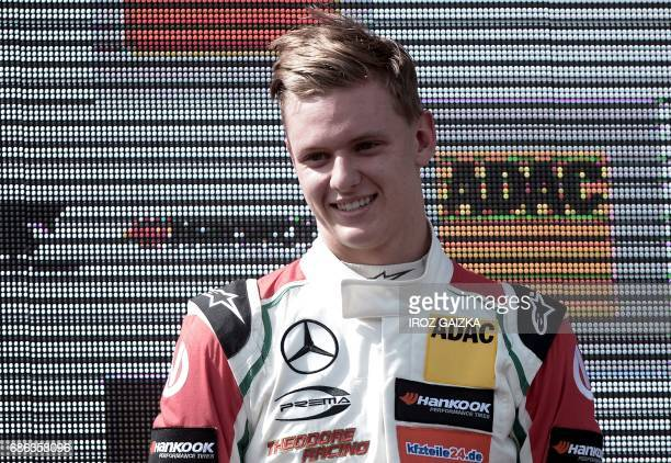 Germany's Mick Schumacher son of Formula One pilot Michael Schumacher is pictured after 12th in the FIA Formula 3 European Championship on May 21...