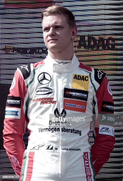 Germany's Mick Schumacher son of Formula One pilot Michael Schumacher is pictured after placing 12th in the FIA Formula 3 European Championship on...