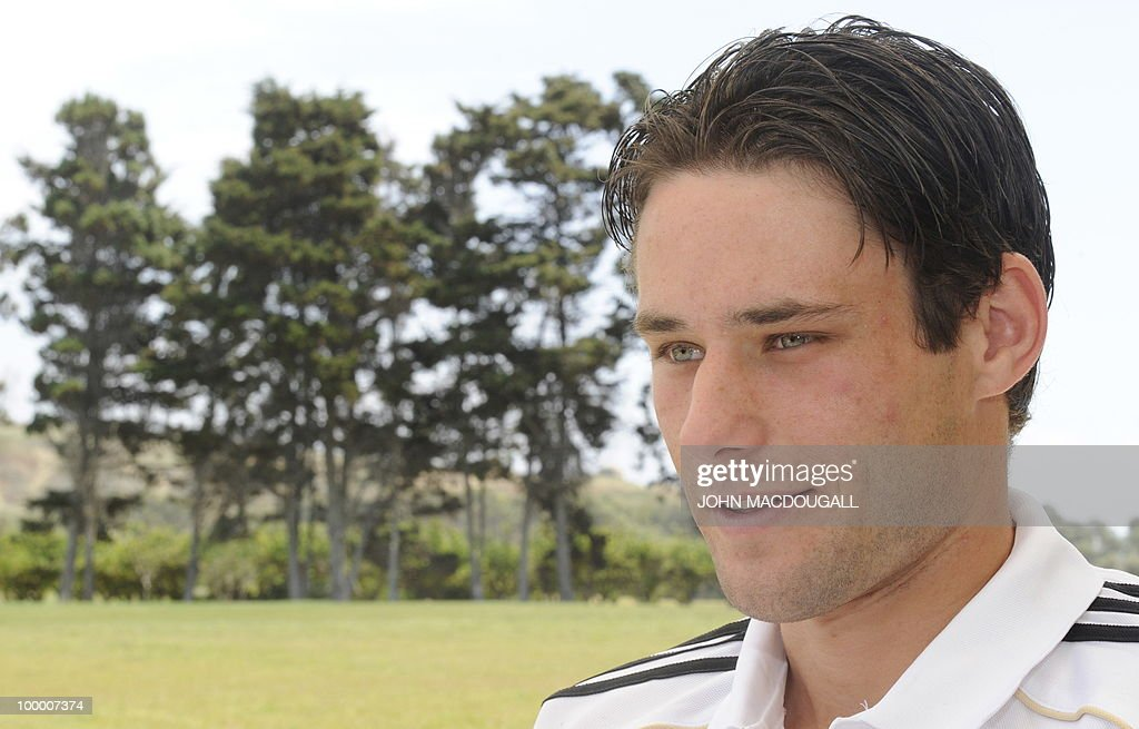 Germany's midfielder Christian Traesch speaks to journalists during a so-called media day at the Verdura Golf and Spa resort, near Sciacca May 19, 2010. The German team is currently taking part in a 'Regeneration' camp in Sicily to prepare for the upcoming FIFA Football World Cup in South Africa.