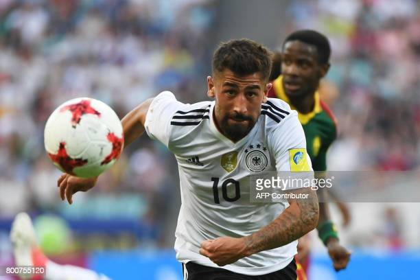 TOPSHOT Germany's midfielder Kerem Demirbay advances with the ball during the 2017 FIFA Confederations Cup group B football match between Germany and...