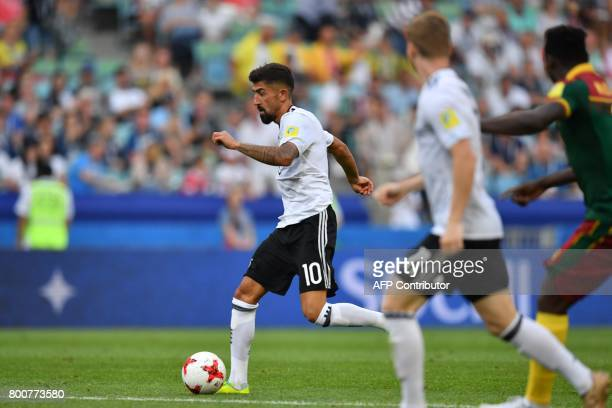 Germany's midfielder Kerem Demirbay advances with the ball to score during the 2017 FIFA Confederations Cup group B football match between Germany...