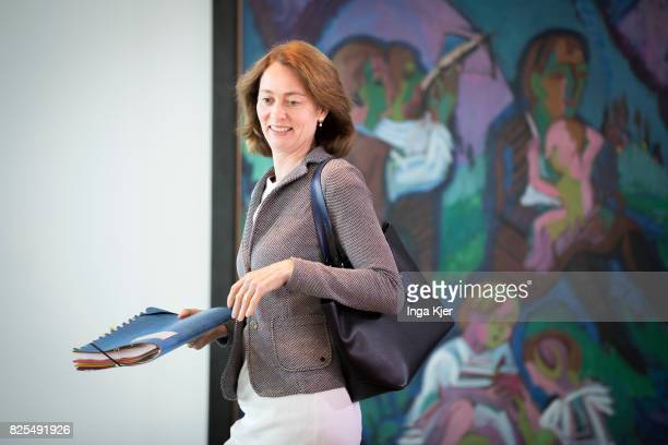 BERLIN GERMANY AUGUST Germany's Minister of Family Affairs Senior Citizens Women and Youth Katarina Barley attends the weekly German federal Cabinet...