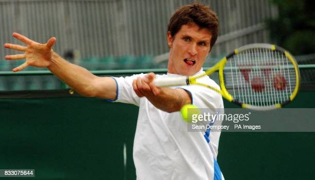 Germany's Mischa Zverev during the Men's Doubles Final of the Surbiton Trophy tournament at Surbiton Racket and Fitness Club Surrey