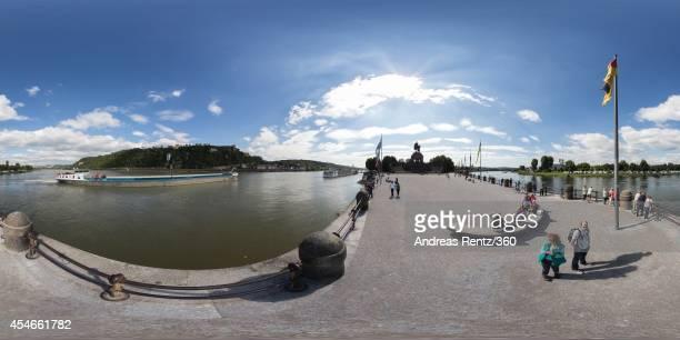 Germany's most beautiful corner The German Corner on September 2 2014 in Koblenz am Rhein Germany The famous German Corner where the Rhine and...