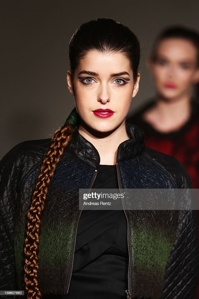 'Germanys Next Topmodel' candidate Marie Nasemann walks the runway at Sava Nald Autumn/Winter 2013/14 fashion show during Mercedes-Benz Fashion Week Berlin at Hotel Adlon Kempinski on January 17, 2013 in Berlin, Germany.