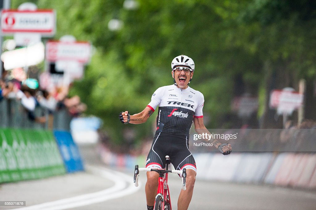 Germany's Nikias Arndt, of the Giant team, celebrated winning the final stage into Turin although it came only after Giacomo Nizzolo, of the Trek team, was stripped of the victory by race judges who ruled the Italian had hampered other riders by deviating from his sprint line.