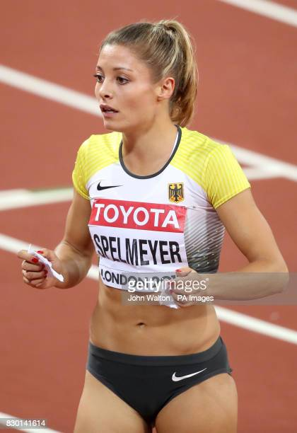 Germany's Ruth Sophia Spelmeyer after competing in the women's 400m semifinals during day four of the 2017 IAAF World Championships at the London...