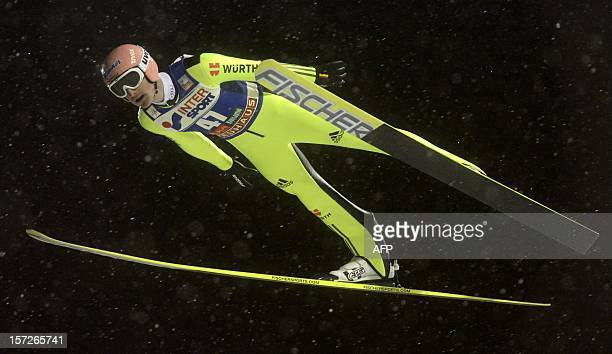 Germany's Severin Freund competes to win during the second round of the ski jumping FIS World Cup event of the Ruka Nordic Opening 2012 in Kuusamo...