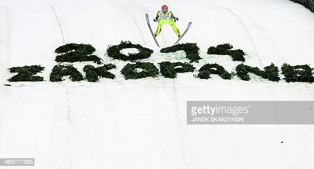 Germany's ski jumper Andreas Wank competes during the FIS Ski Jumping World Cup in Zakopane Poland on January 19 2014 AFP PHOTO/JANEK SKARZYNSKI