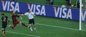 Germany's striker Miroslav Klose scores past Australia's goalkeeper Mark Schwarzer during their Group D first round 2010 World Cup football match on...