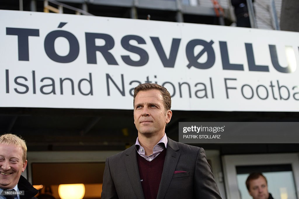 Germany´s team manager Oliver Bierhoff arrives for the FIFA World Cup 2014 qualifying football match Faroe Island vs Germany in Torshavn on September 10, 2013. AFP PHOTO / PATRIK STOLLARZ
