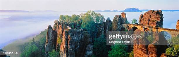 Germany,Saxony,Elbsandstein Mountains,Basteifelsen,near Wehlen