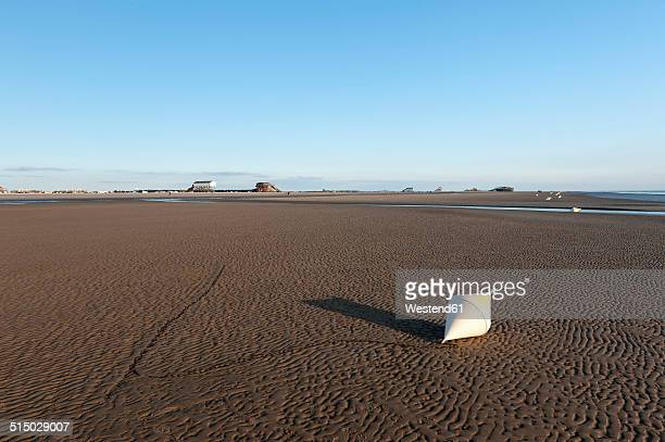 Germany,Schleswig-Holstein, North Sea, Beach of Sankt Peter-Ording, Buoy