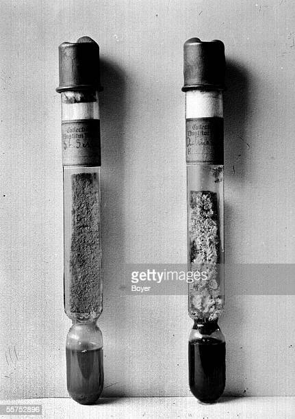 Germs and serums tubes for culture of mushrooms lower than the Pasteur institute than Paris made by Louis Pasteur a chemist and French biologist...