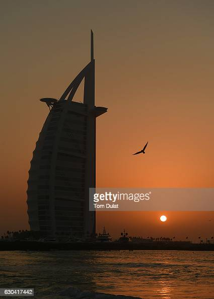 Gernal view of Burj Al Arab on December 22 2016 in Dubai United Arab Emirates