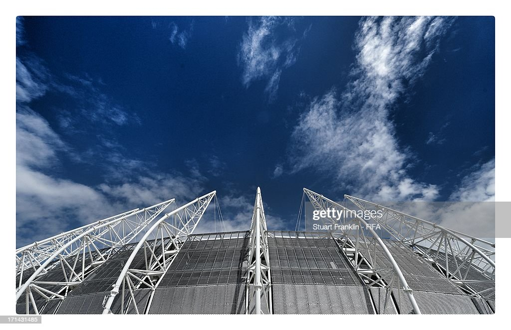 A gernal view of the stadium on June 24, 2013 in Fortaleza, Brazil.
