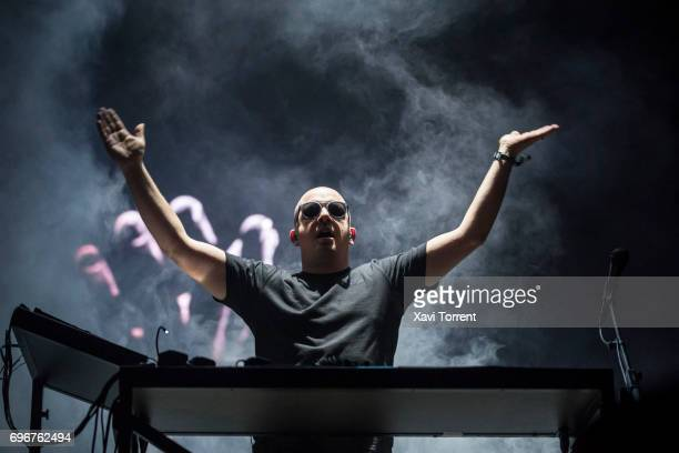 Gernot Bronsert of Moderat performs on stage during day 3 of Sonar 2017 on June 16 2017 in Barcelona Spain