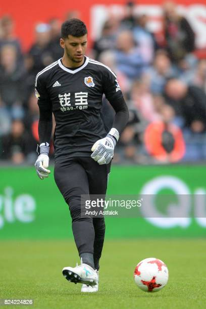 ROTTERDAM NETHERLANDS JULY Geronimo Rulli from Real Sociedad during the friendly match between Feyenoord and Real Sociedad at De Kuip or Stadion...
