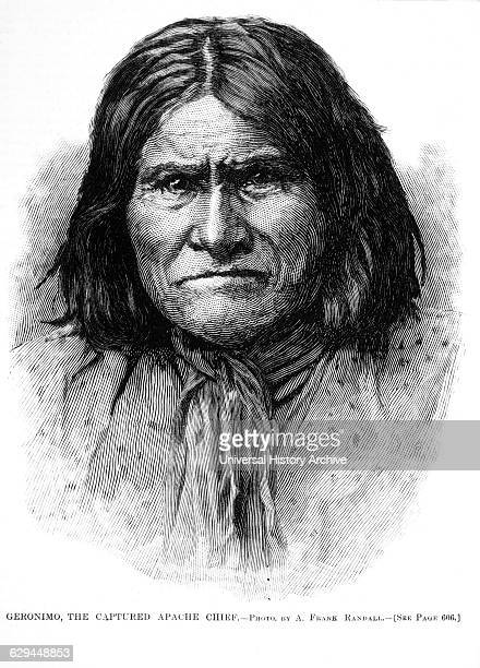 Geronimo the Captured Apache Chief Illustration Harper's Weekly September 18 1886