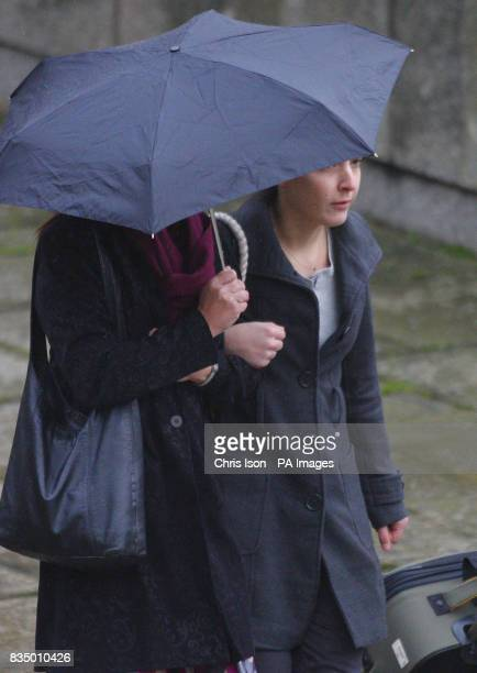 Gerrah Selby from Chiswick west London arrives at Winchester Crown Court where she is due to be sentenced for blackmailing companies who supplied...