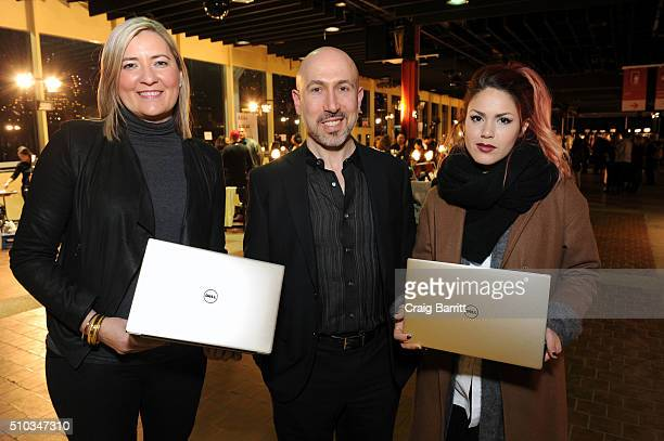 Gerri Tunnell Josh Landau and Luanna PerezGarreaud attend the Dell XPS Gold at Opening Ceremony NYFW 2016 on February 14 2016 in New York City