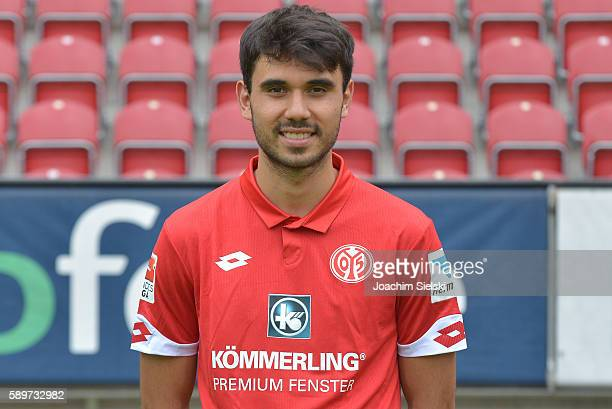 Gerrit Holtmann poses during the official team presentation of 1 FSV Mainz 05 at Opel Arena on July 25 2016 in Mainz Germany