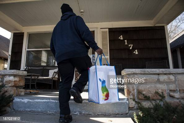 Gerron Diamond a Google Inc broadband technician arrives to install the Google Fiber network at the home of customer Becki Sherwood in Kansas City...