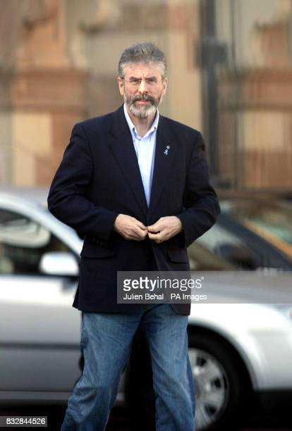 Gerry Adams at Hillsborough Castle after Sinn Fein and the DUP met the Northern Ireland Secretary Peter Hain in a meeting today