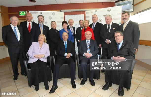 Gerry Adams David Andrews David Adams Dawn Purvis Sir Reg Empey General Sir John de Chastelain Liz O'Donnell Mark Durkan Paul Murphy and Lord John...