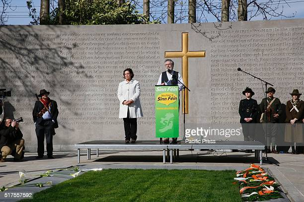 Gerry Adams head of Sinn Fein attends the 1916 rising commemoration Sinn Féin held their 1916 rising commemoration at Arbour Hill Prison party leader...