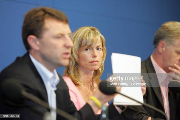 Gerry and Kate McCann at a press conference in Berlin on the first leg of their 2 stop tour which also takes in Amsterdam