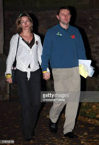 Gerry and Kate McCann leave the Church of St Mary and St John in their Leicestershire home town after a prayer service to mark six months since their...