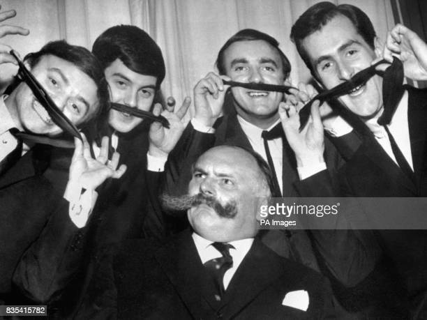 Gerry and the Pacemakers try a bit of friendly mickeytaking on 'Professor' Jimmy Edwards infamous moustache The pop group and comedian were waiting...