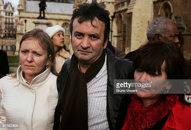 Gerry Conlon his sister Ann Conlon and Bridie Brenan pose for photographers after listening to Prime Minister's Questions at the Houses of Parliament...