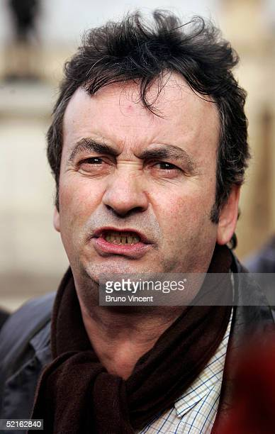 Gerry Conlon speaks to the press after listening to Prime Minister's Questions at the Houses of Parliament February 9 2005 in London British Prime...