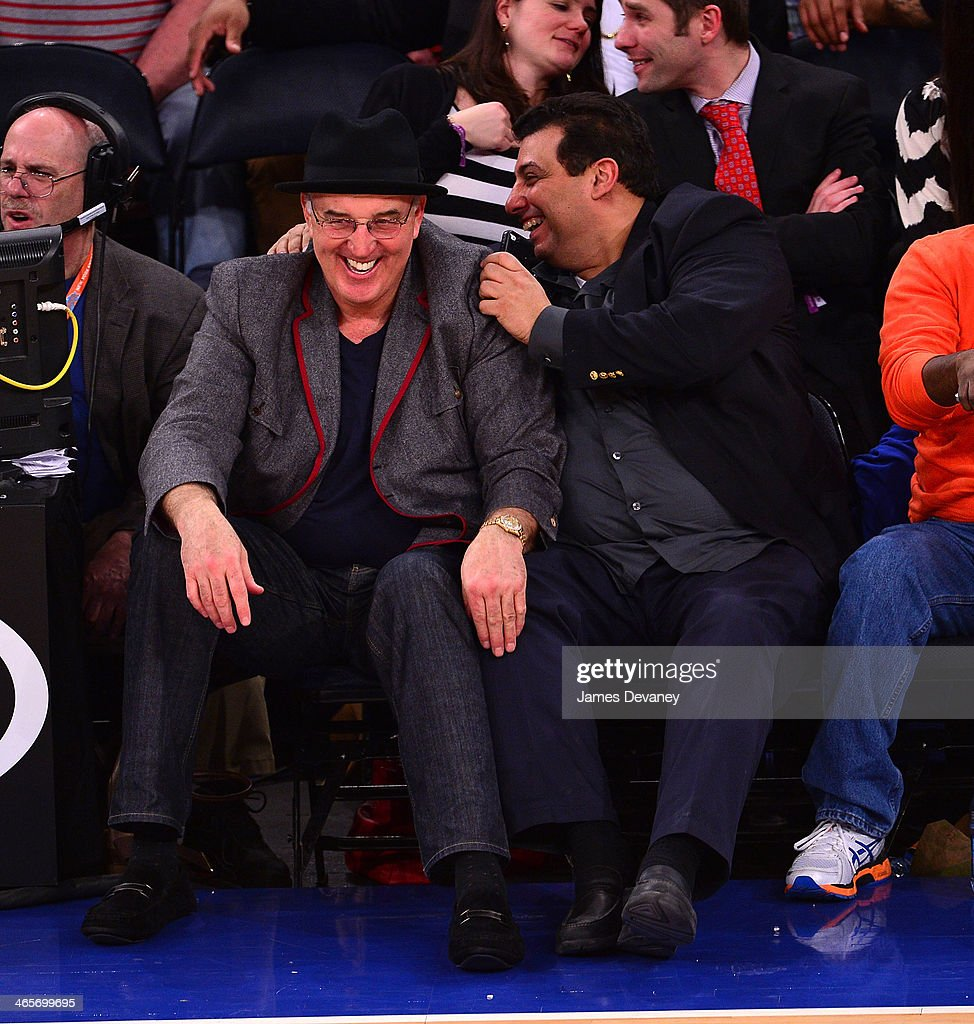 Gerry Cooney and guest attend the Boston Celtics vs New York Knicks game at Madison Square Garden on January 28, 2014 in New York City.