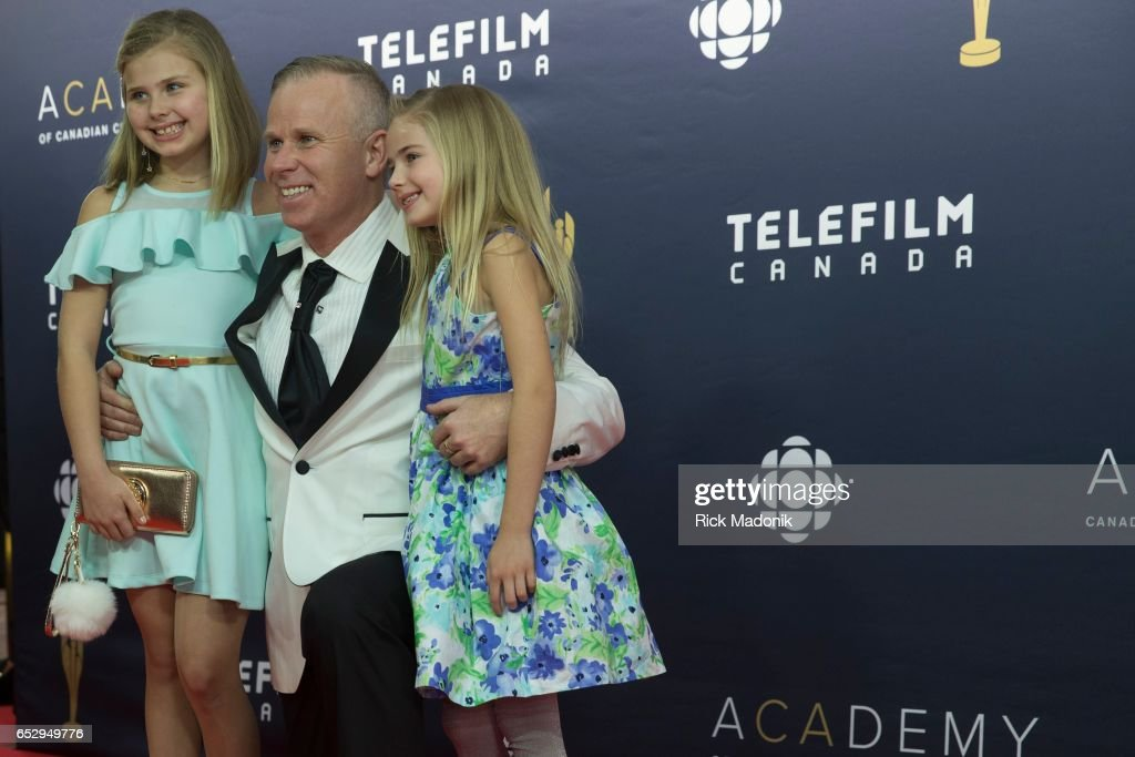 Gerry Dee, and his kids Faith and Aly Donoghue. Canadian Screen Awards red carpet at Sony Centre for the Performing Arts ahead of the show.