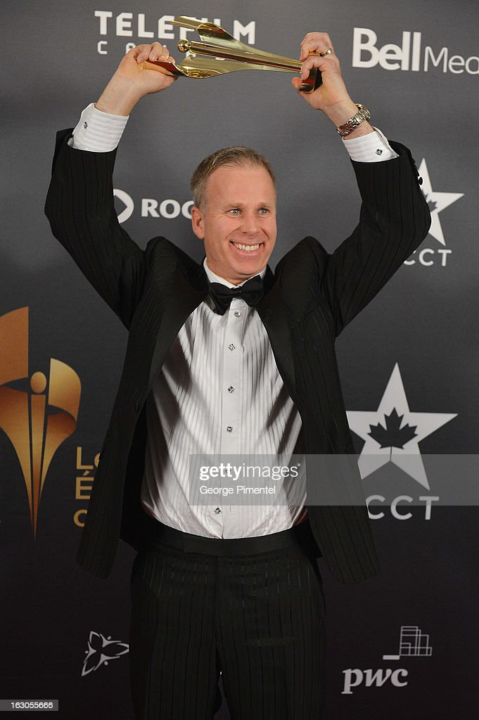 Gerry Dee, winner of the best performance by an actor in a continuing leading comedic role, poses in the press room at the 2013 Canadian Screen Awards at Sony Centre for the Performing Arts on March 3, 2013 in Toronto, Canada.