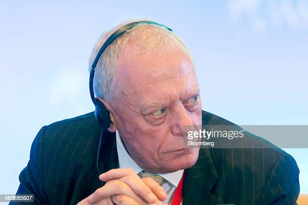 Gerry Grimstone nonexecutive chairman of Standard Life Plc listens during a session at the Boao Forum for Asia in Boao Hainan China on Wednesday...