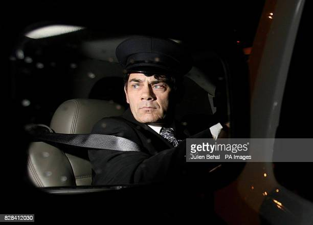 Gerry Hutch pictured in his wing mirror of the stretch limo who collected former Heavyweight Boxing Champion Tyson accompanied by Irish Boxer Joe...
