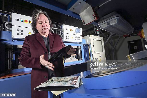 presses were NOT operational at time of photograph Gerry McGee vicepresident of Precision Pressing in front of his new record making machines January...